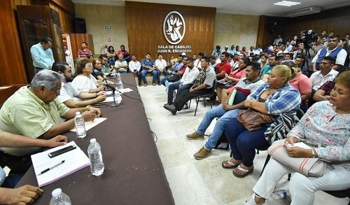 Refrenda Adela Román respaldo a comisarios y delegados municipales