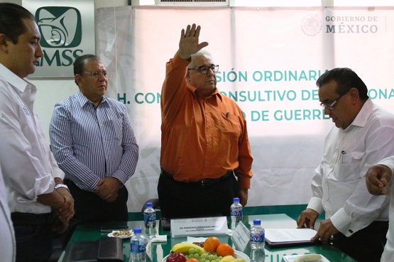 Por designación del H. Consejo Técnico, Francisco Hernández Torres asume como delegado del IMSS en el Estado