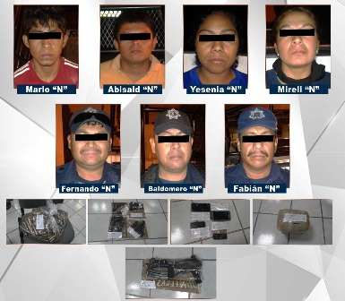 4 de 9 miembros de Los Rojos capturados en Chilapa eran policías municipales