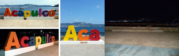 Alguien roba el nombre de Acapulco del parque de La Reyna