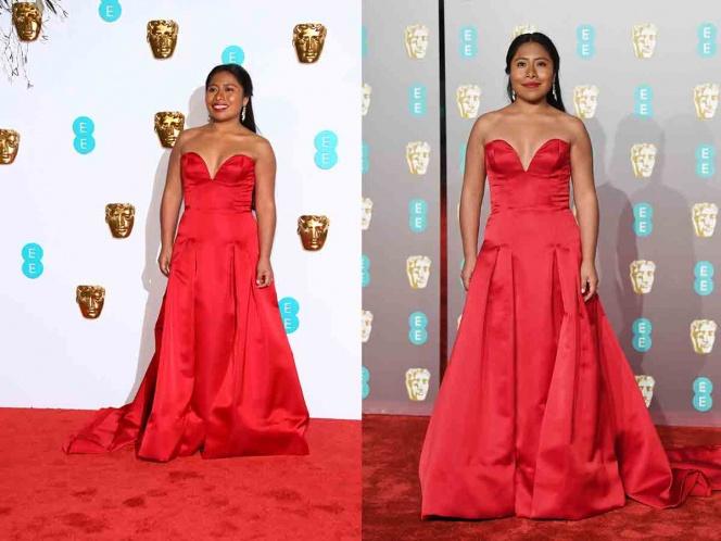 Yalitza Aparicio es criticada en redes por su vestido en los BAFTA
