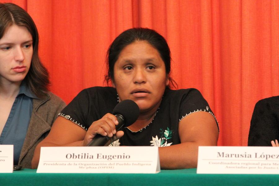 Senadores, Diputados federales y locales, y activistas exigen la localización de Obtilia