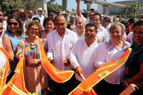 Aperturan los dos sentidos del Distribuidor Vial Diamanta de Acapulco
