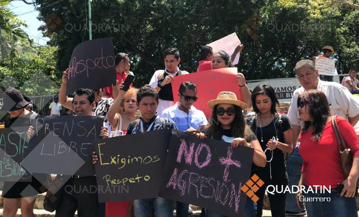 Exigen periodistas respeto a su labor en el Ayuntamiento de Acapulco