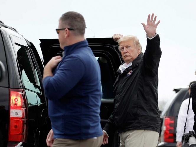 El misterioso accidente de auto que rozó a Trump