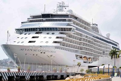 Llegan más de mil a bordo del crucero Seven Seas Explorer