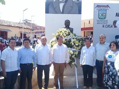 Se realiza en Ayutla la celebración del 165 aniversario de la promulgación de Plan de Ayutla
