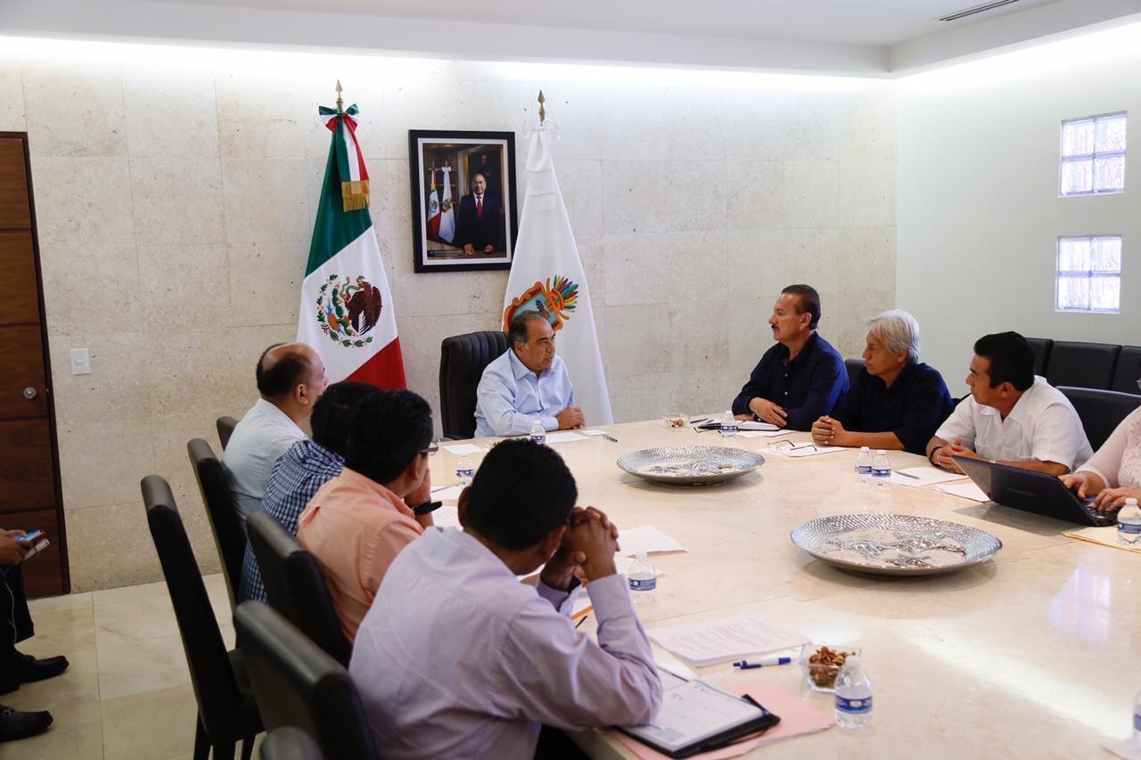 Astudillo Flores se reunió con integrantes del SUSPEG, con quienes buscaron soluciones