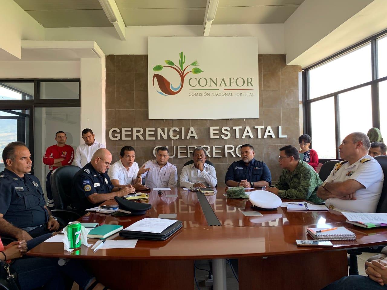 Declaran sesión permanente del consejo estatal contra incendios forestales en Guerrero