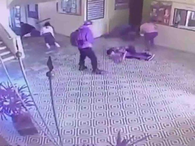 Difunden dramático video de la matanza en escuela de Brasil