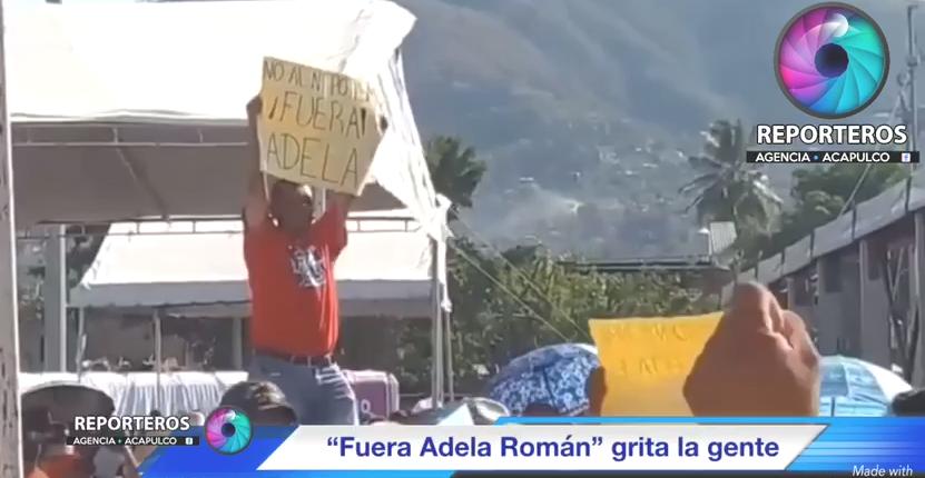 (Video) Abuchean a alcaldesa de Acapulco a su llegada a acto de López Obrador