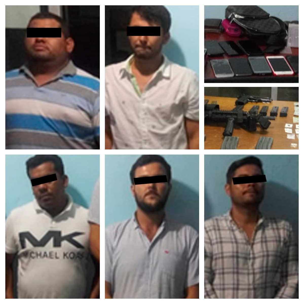 Detienen a cinco personas con droga y armas; uno es Policía Ministerial