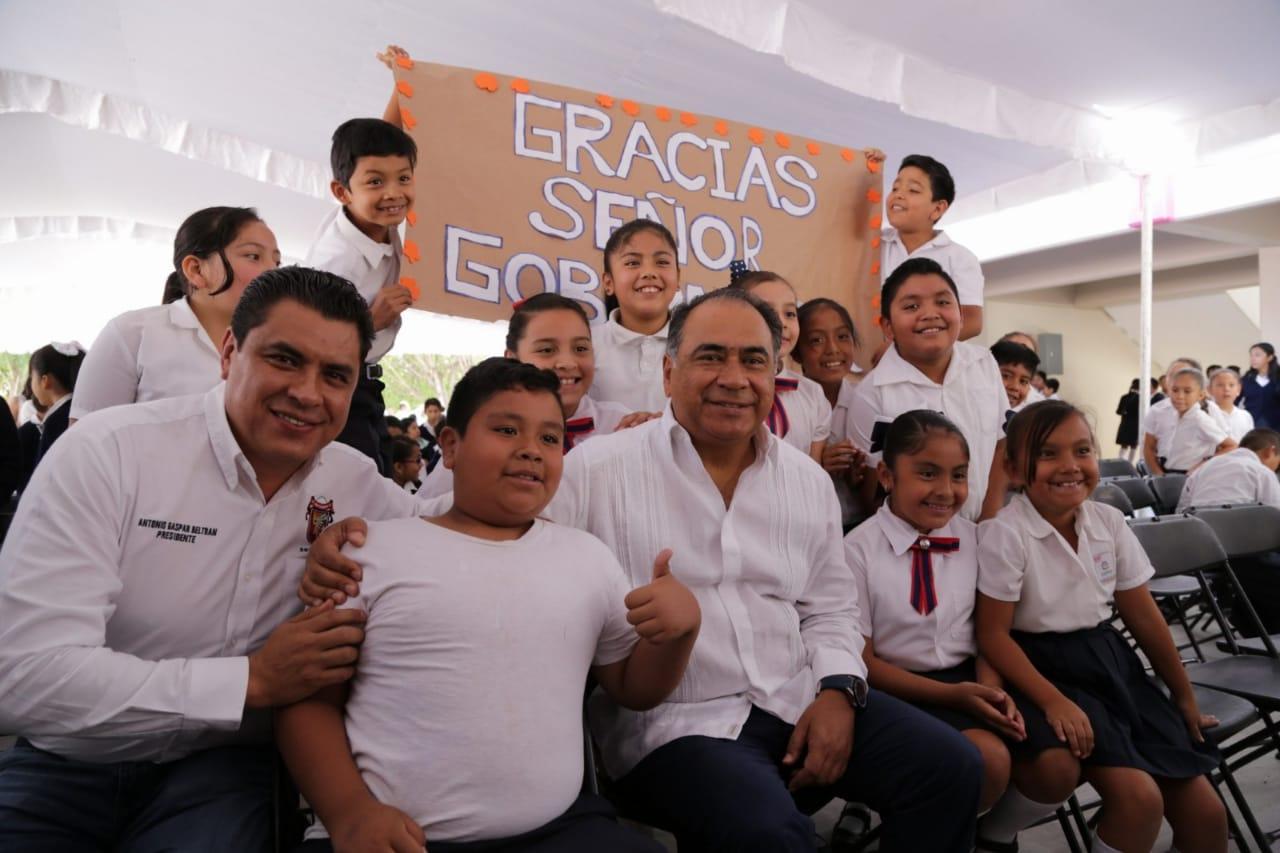 La educación, prioridad de mi gobierno; entrega el gobernador obras por 21 MDP en Primaria de Chilpancingo