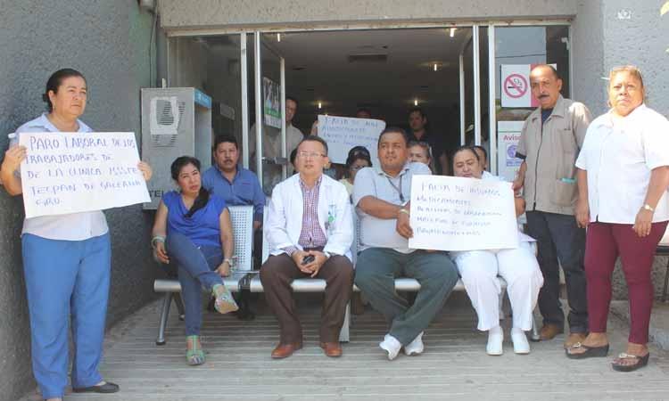 Continúa paro indefinido en la clínica del ISSSTE de Tecpan