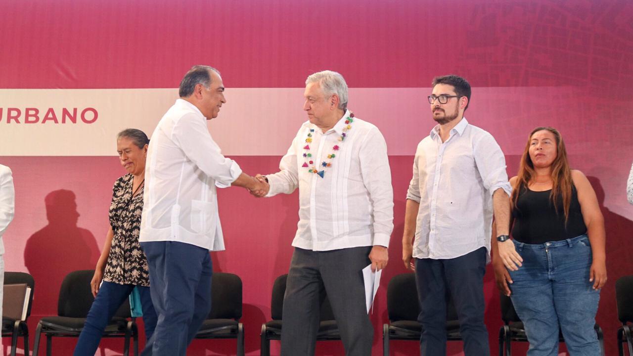 (Video) Arrancan Astudillo y López Obrador el mejoramiento urbano con 600 MDP para 26 colonias de acapulco