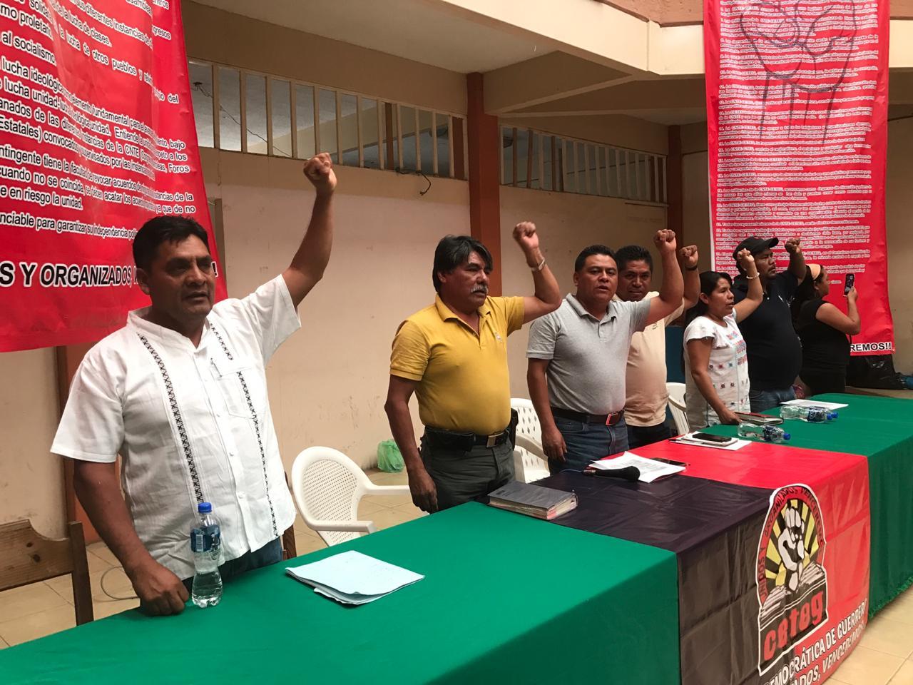 CETEG toma receso en protestas contra Reforma Educativa; regresan con paro el 01 de Mayo