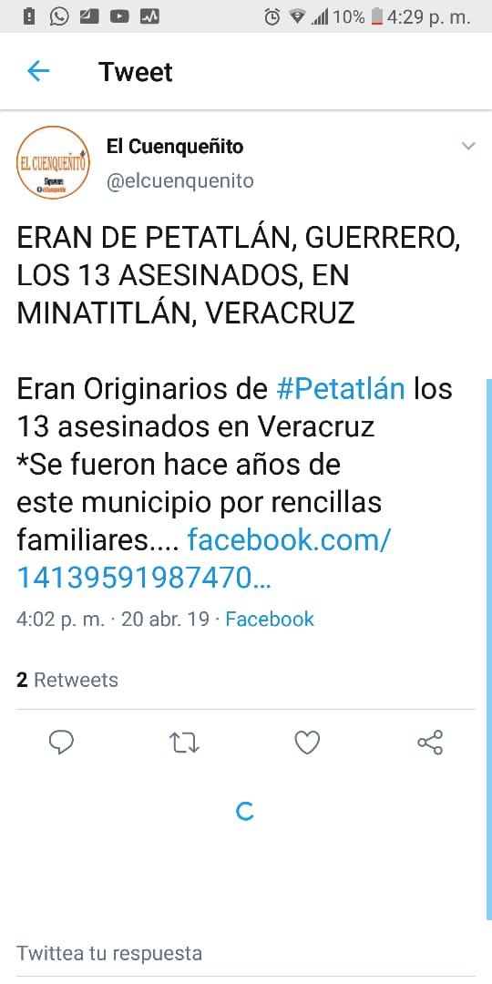 Eran Originarios de Petatlán algunos de los 13 asesinados en Veracruz