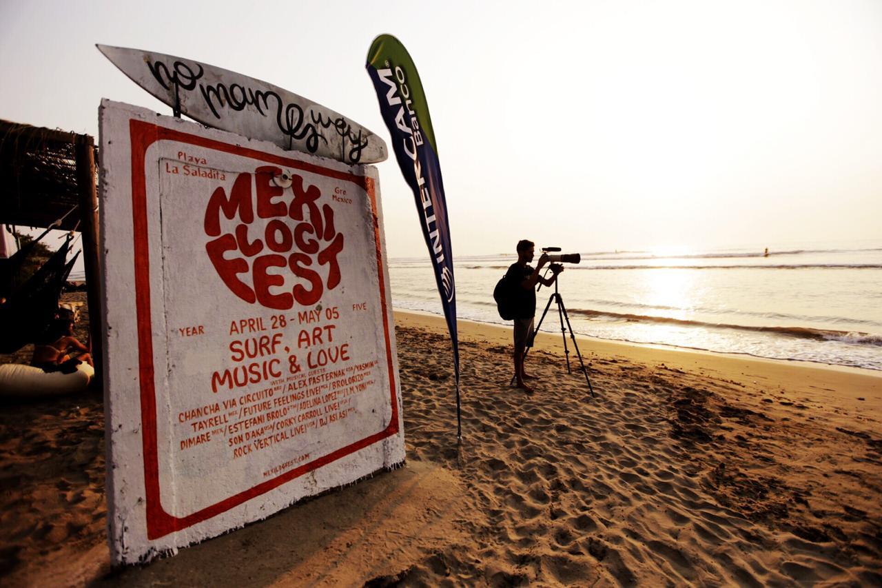 Playa La Saladita, en la la Unión, sede del torneo de Surf Longboard