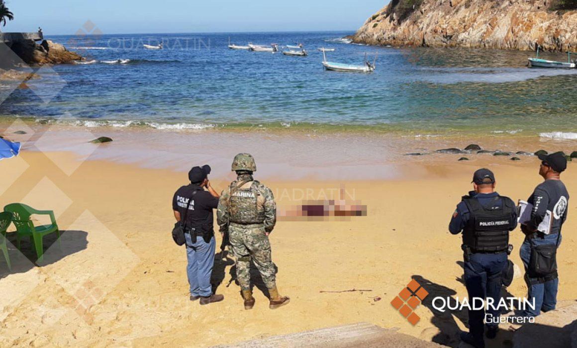 Flota otro cuerpo en la playa La Angosta de Acapulco