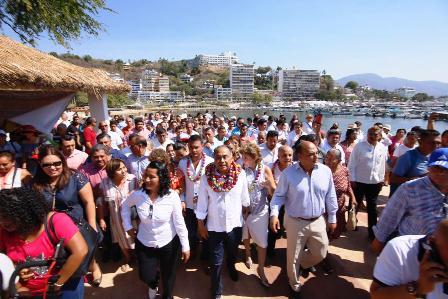 Costó 80 millones rehabilitar el paseo del pescador en Acapulco