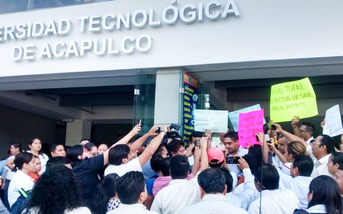 Inician maestros paro laboral en la Universidad Tecnológica de Acapulco