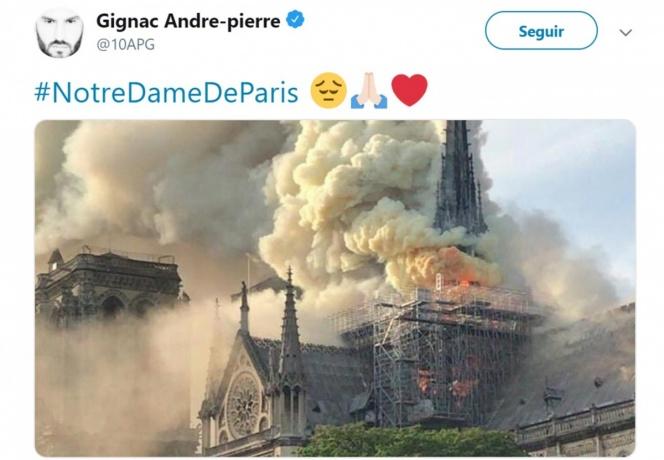 Incendio en Notre Dame conmociona al mundo del futbol