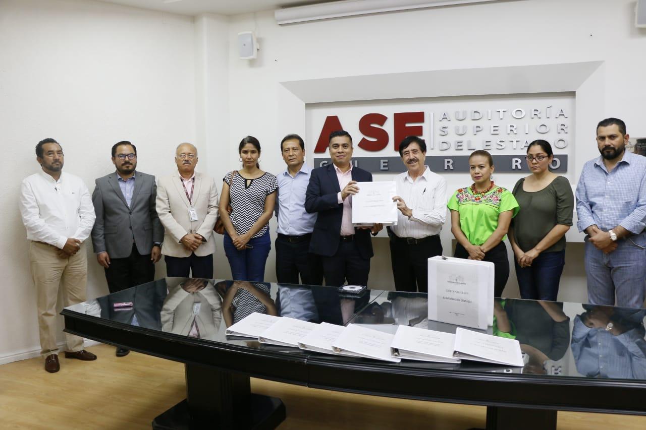 Entrega Congreso de Guerrero su Cuenta Pública 2018 a la ASE