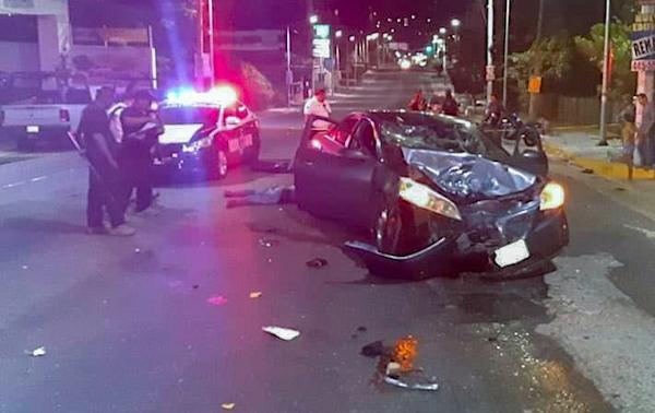 Muere motociclista, después de impactar con vehículo en Acapulco