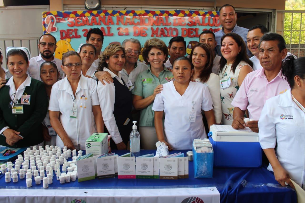 Pone en marcha Mercedes Calvo segunda semana nacional de vacunación en Guerrero