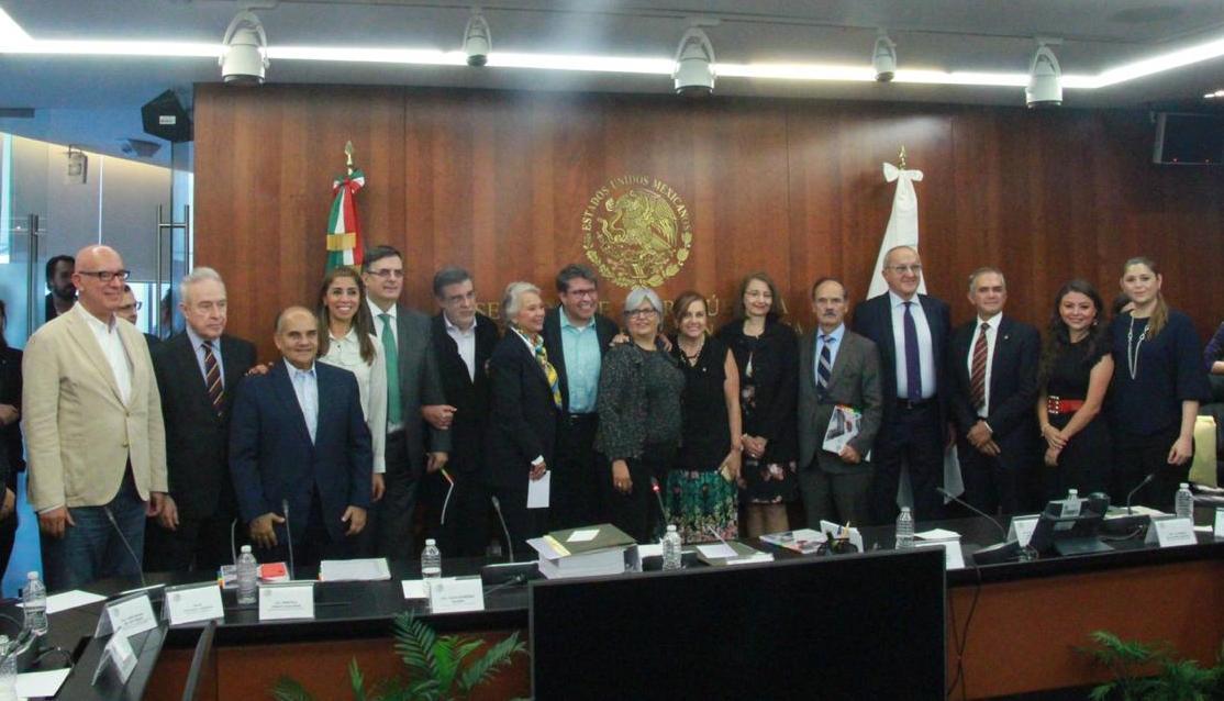 Ante Secretarios de Estado, a nombre del Grupo Parlamentario del PRI, Añorve fija postura sobre T-MEC (Tratado México, Estados Unidos y Canadá)