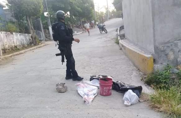 Dejan restos humanos en la colonia Nicolás Bravo de Acapulco