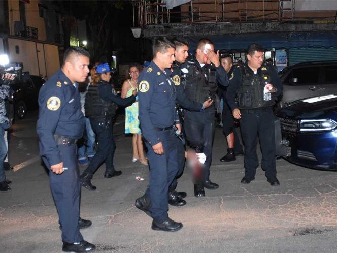 Violento sujeto hiere a policías en calles del Centro