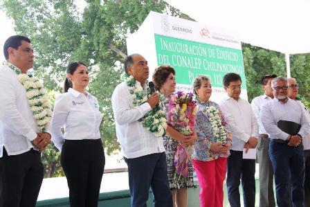 Gobierno de Astudillo inaugura obra en CONALEP Chilpancingo