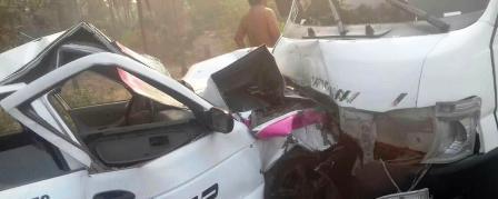Seis lesionados deja choque en Coyuca de Benítez