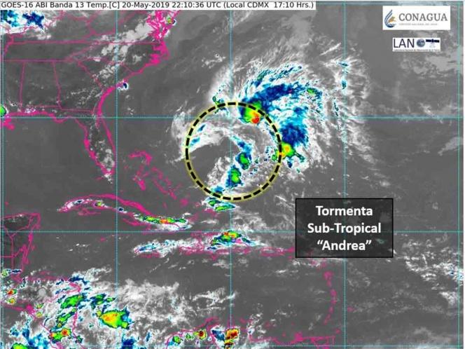 Se forma la tormenta subtropical Andrea en el Atlántico