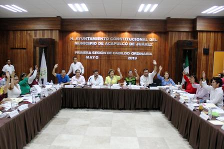 Aprueba Cabildo de Acapulco presupuesto de egresos 2019