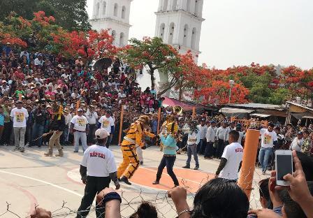 Ritual de Pelea de Tigres para pedir lluvias en Zitlala registra poca asistencia