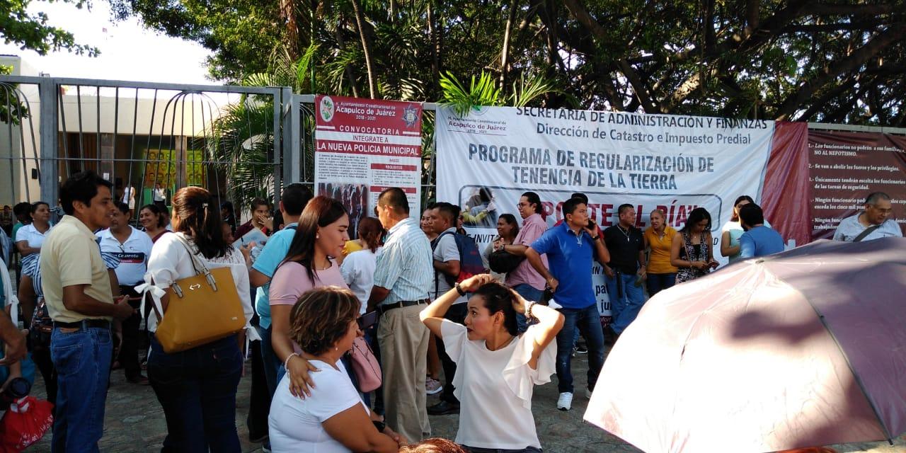 Tercer día de paro municipal en Acapulco