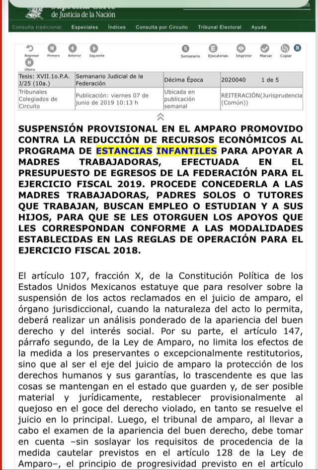 Suprema Corte otorga Jurisprudencia Común a Estancias Infantiles y ganan amparo contra AMLO