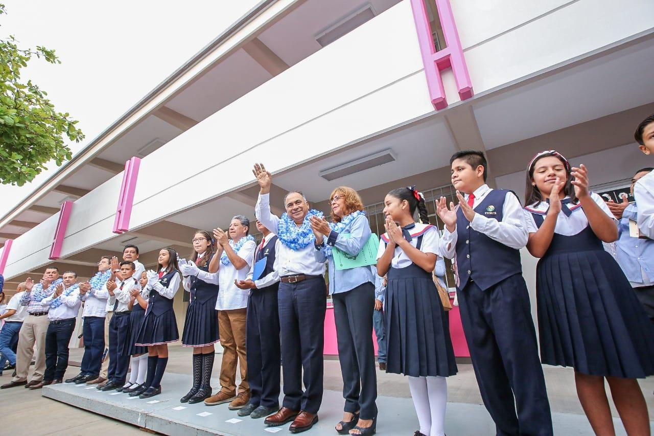 Inaugura HAF edificio en la primaria «Gregorio Torres Quintero» de Iguala; se invierten más de 10 MDP