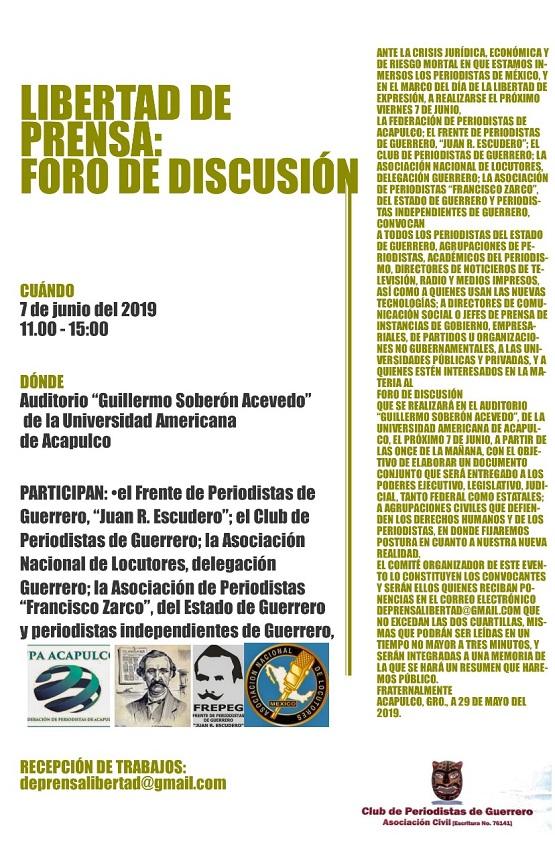 Convocan a foro de discusión sobre la nueva realidad del periodismo en México.