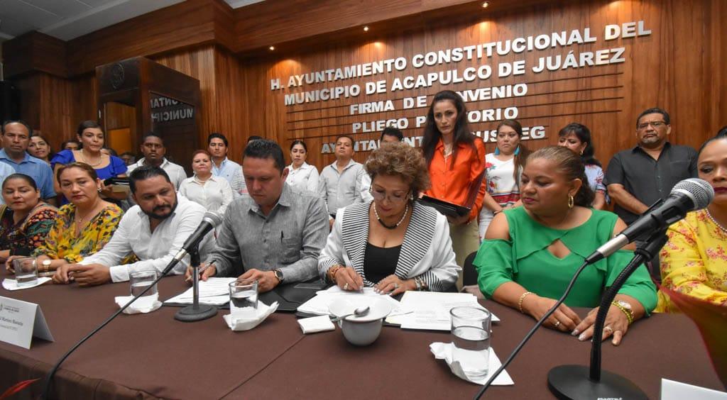 Acuerdan Comisión Mixta para escalafón en Ayuntamiento de Acapulco