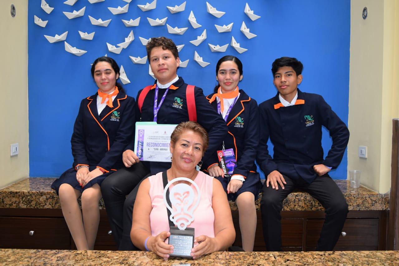 Alumnos del CECyTE Guerrero ganan primer lugar en el Certamen de Creatividad Tecnológica 2019 en Sinaloa