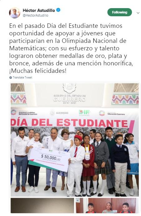 Niñas y niños de Guerrero obtienen medallas de oro, plata , bronce y mención honorífica en Olimpiada Nacional de Matemáticas