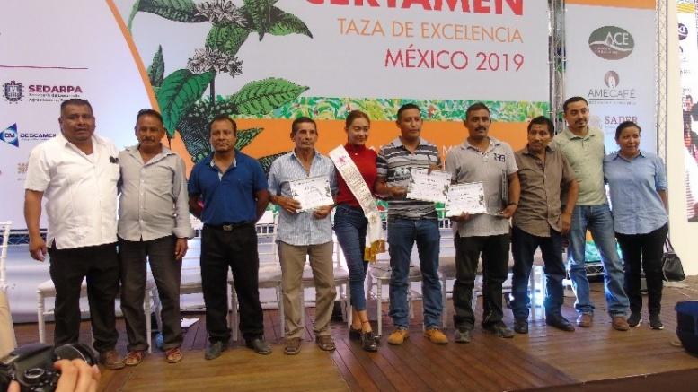 Productores de café de Guerrero en los primeros lugares en el certamen «Taza de Excelencia 2019» Realizado en Veracruz