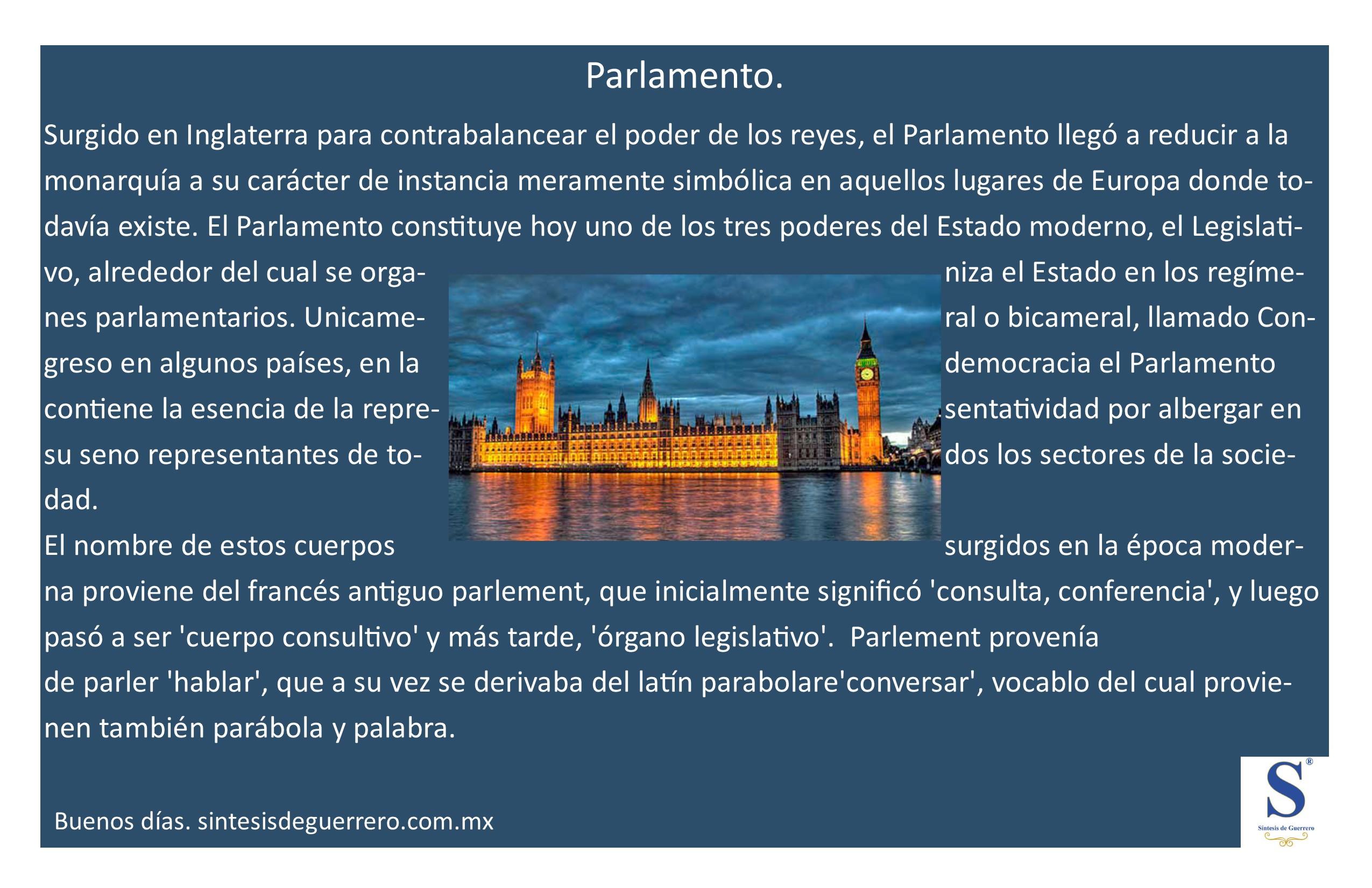 Buenos días. Parlamento