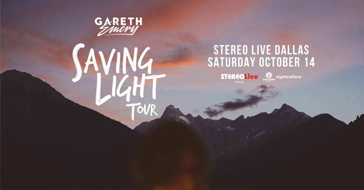 Gareth Emery Saving for Light Tour