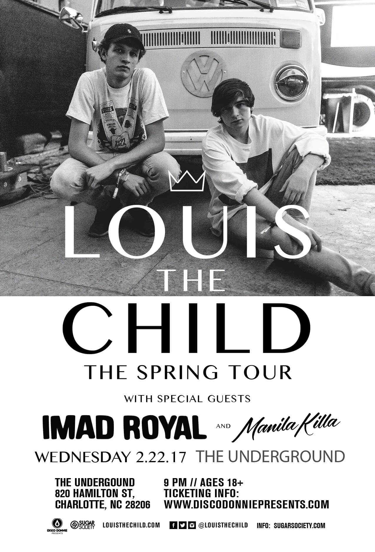 Louis The Child, Imad Royal, Manila Killa in Charlotte