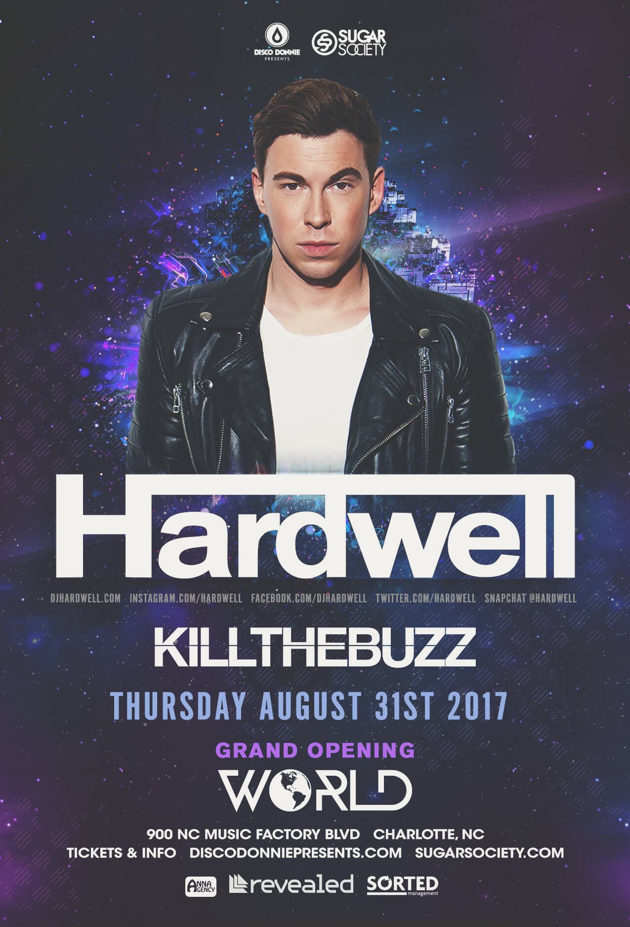Hardwell, Kill The Buzz in Charlotte