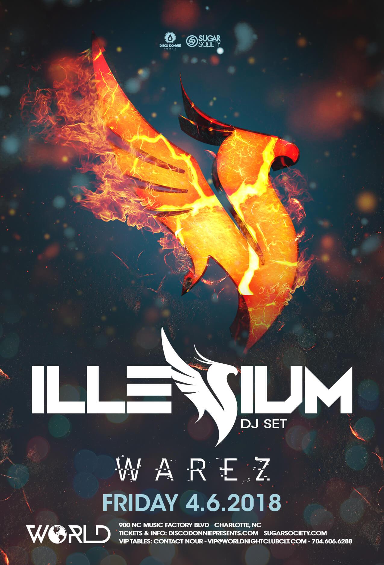 Illenium, Warez in Charlotte